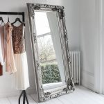 Decorative Silver Full Length Mirror Primrose Plum
