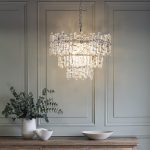 Clear Pebble Glass Chandelier Primrose Plum