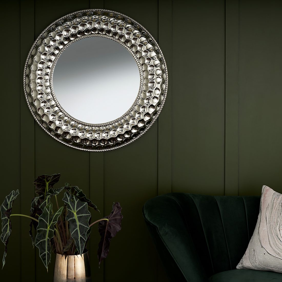 Large Moroccan Round Wall Mirror Diameter 80cm Decorative