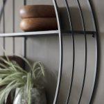 Round Industrial Shelf Wall Unit Primrose Plum