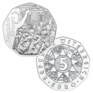 Österreichs erste Münze des Sammlerjahres 2016: die 5 Euro