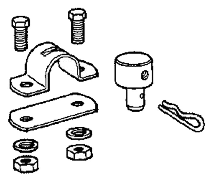 Bolt-Down Housing Clamp plus Cable Fitting
