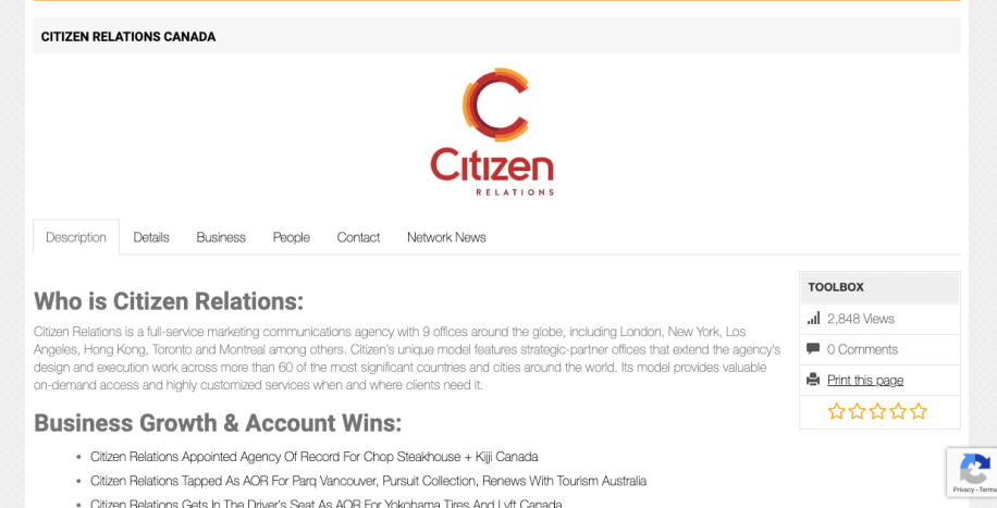 Citizen Relations Company profile