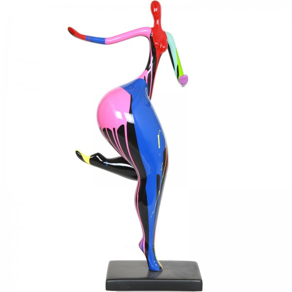 Statue femme design moderne en rsine multicolore Alexia 78 cm