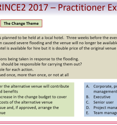 wording of prince2 practitioner questions [ 1324 x 746 Pixel ]