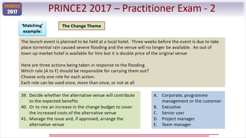 small resolution of wording of prince2 practitioner questions