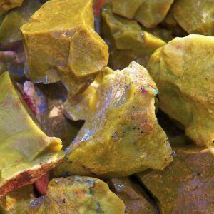 Green opal healing stone