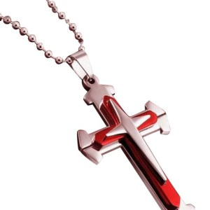 red cross necklace