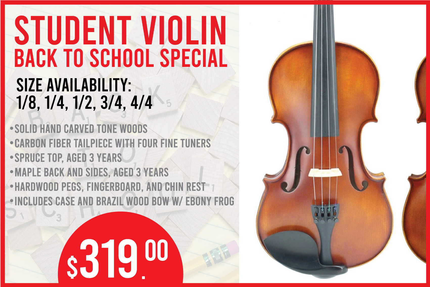 Back to School! -- Student Violin
