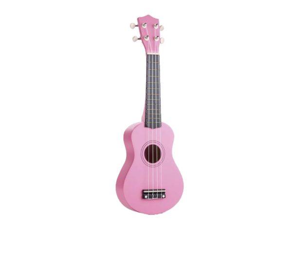 """Kids 21"""" colorful ukulele pink color"""