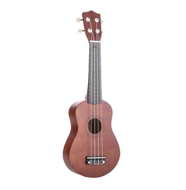 """Kids 21"""" colorful ukulele brown color"""
