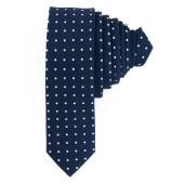 Γραβάτα Μπλε Σκούρο Πουά (Φάρδος 5 cm)