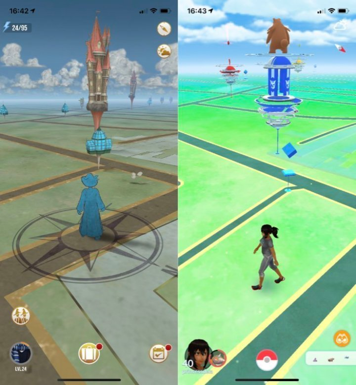 Fortress in Wizards Unite and Gym in Pokemon Go!