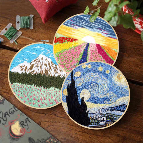 Landscape Embroidery Kit