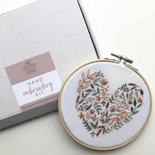 Embroidery Heart Kit