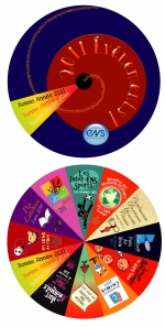 <h5>Carte de voeux 2011, pour l'ENS-Cachan.</h5><p>Conception graphique et illustrations : PrincessH. 2010.</p>