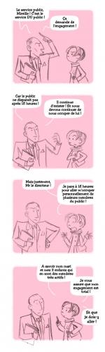 <h5>Absentéïsme & Service du Public</h5><p>Pour le Conseil Général de l'Eure, 2013. scénario refusé.</p>