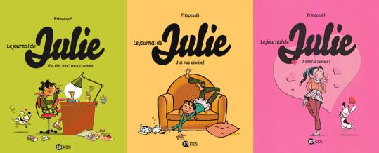 Journal de Julie tomes 1,2 et 3