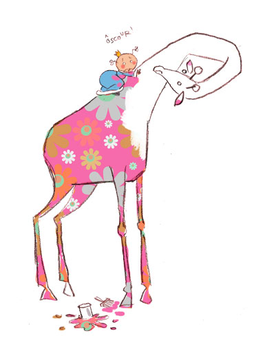 PrincessH, Girafe et coloriage
