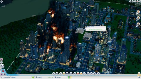Meteors in Simcity