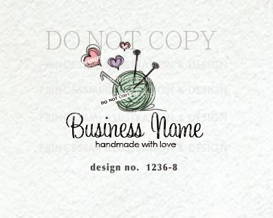 1236-8 crochet logo, knit logo, yarn logo design, knitting