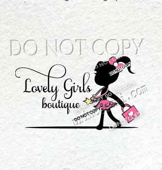 kids business logo, child girl logo, girl fashion logo