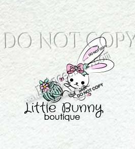 cute rabbit logo, bunny yarn logo, knitting, crochet logo