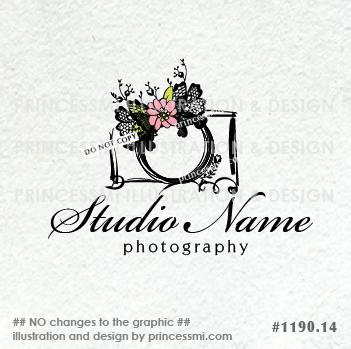 lace bow and camera logo design, photography logo