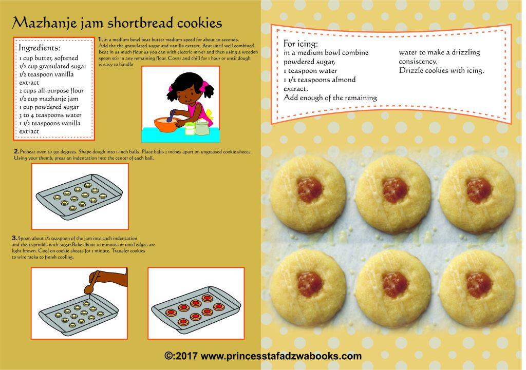 Mazhanje jam shortbread cookies