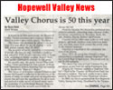 Hopewell Valley News article