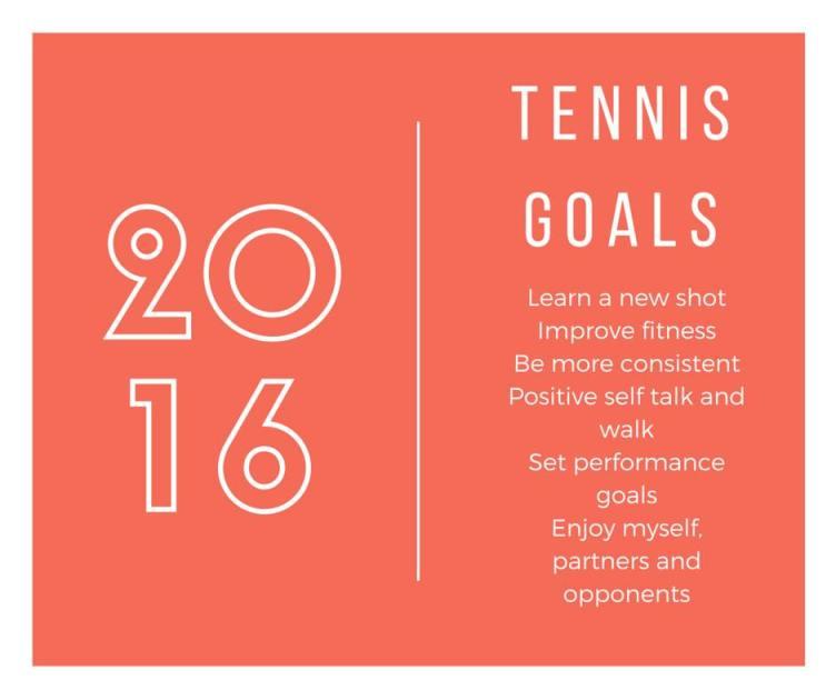 2016 tennis goals