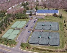 Aerial view at the Princeton Racquet Club