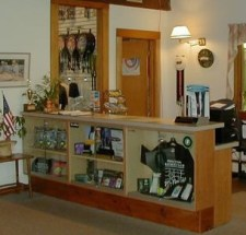 Front desk at the Princeton Racquet Club