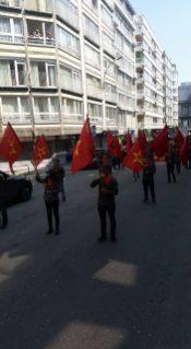 Lijež, Belgija - Pripadnici turskog DHKP-C marširaju usred EU