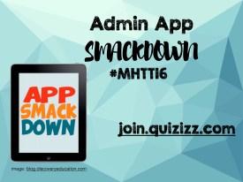 Admin App Smackdown MHHT16 cover