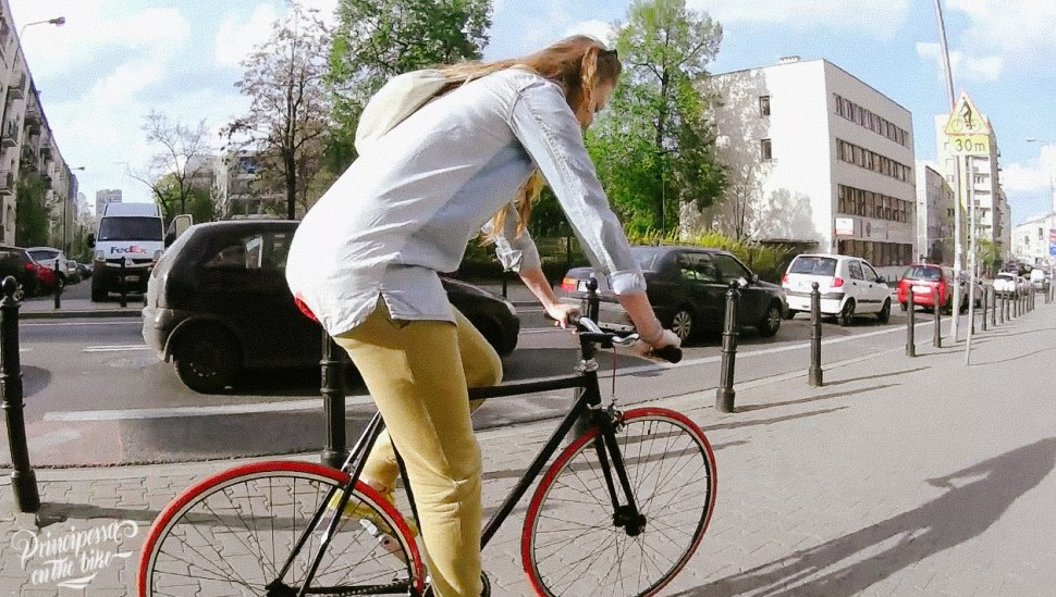 principessa on the bike