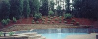 Pool with retaining wall | New House | Pinterest ...