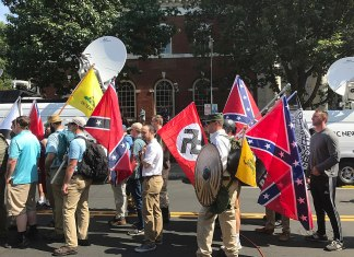 Neo-Nazis at the Charlottesville rally