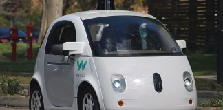An image of a Waymo self-driving car.