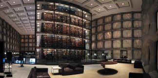 An image of the Yale Beinecke Rare Books Library