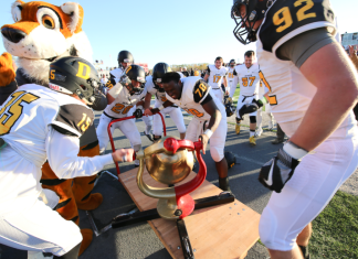 A photo of the Monon Bell game at DePauw University