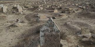 An image of a cemetery near Mosul, Iraq