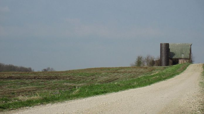 a panorama of a rural Missouri landscape