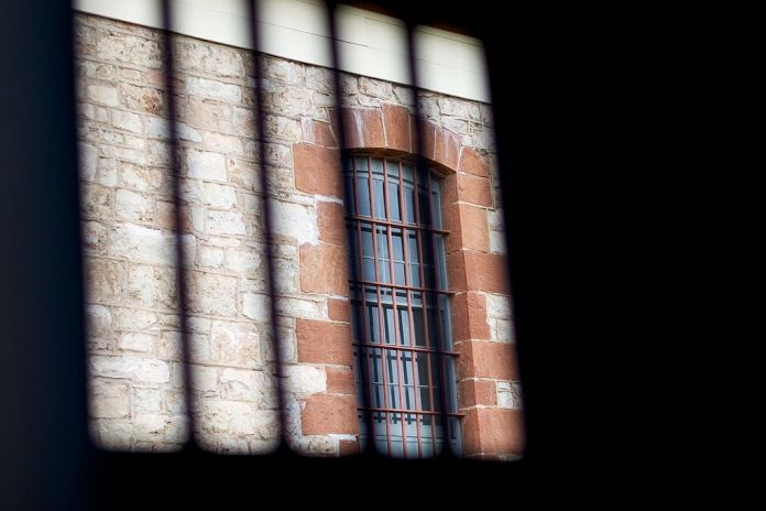 An image of a prison window