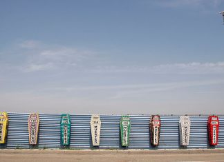 Photo of a monument memorializing deaths of migrants who tried to cross the U.S.-Mexico border