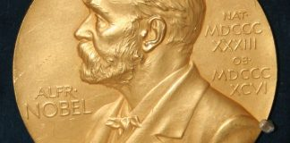 Photo of the Nobel prize