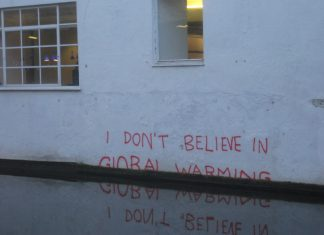 """""""Banksy is a climate change denier"""" by Matt Brown licensed under CC BY 2.0 (via Flickr)."""