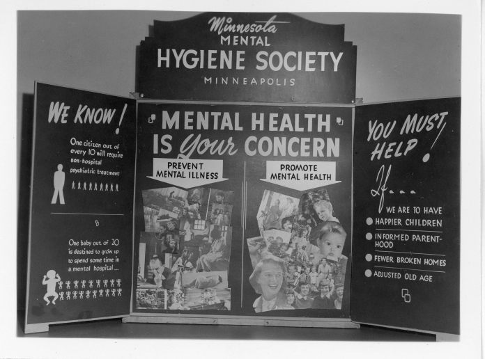 Photograph of 1944 poster that says