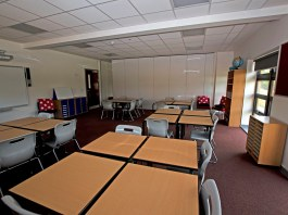 photograph of empty classroom