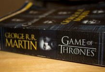 photograph of used Game of Thrones book